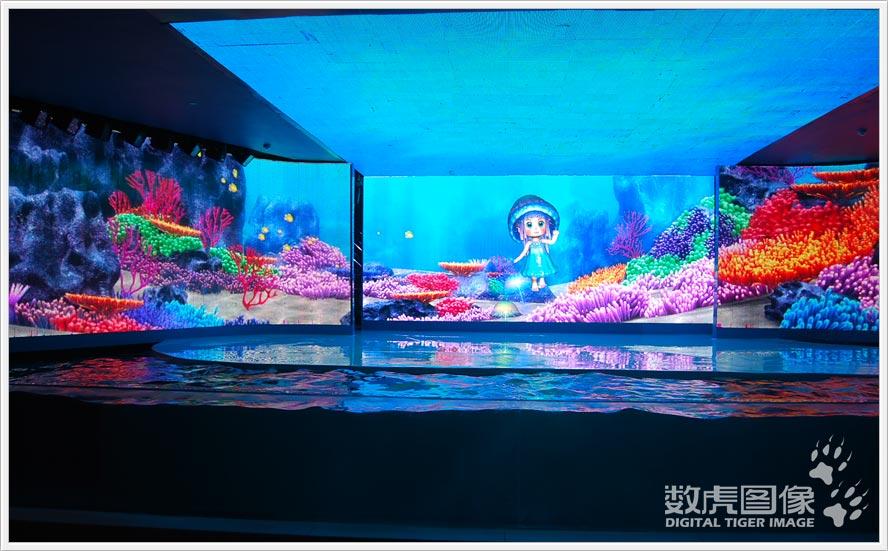 而之前在华侨城深圳欢乐海岸《反斗海狮秀》项目中,数虎图像还将多